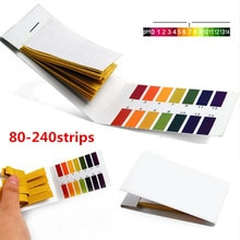 80-240strip PH bandelettes de Test complet PH mètre contrôleur 1-14st indicateur Litmus Kit de papier pour les cosmétiques aqueux sol durine
