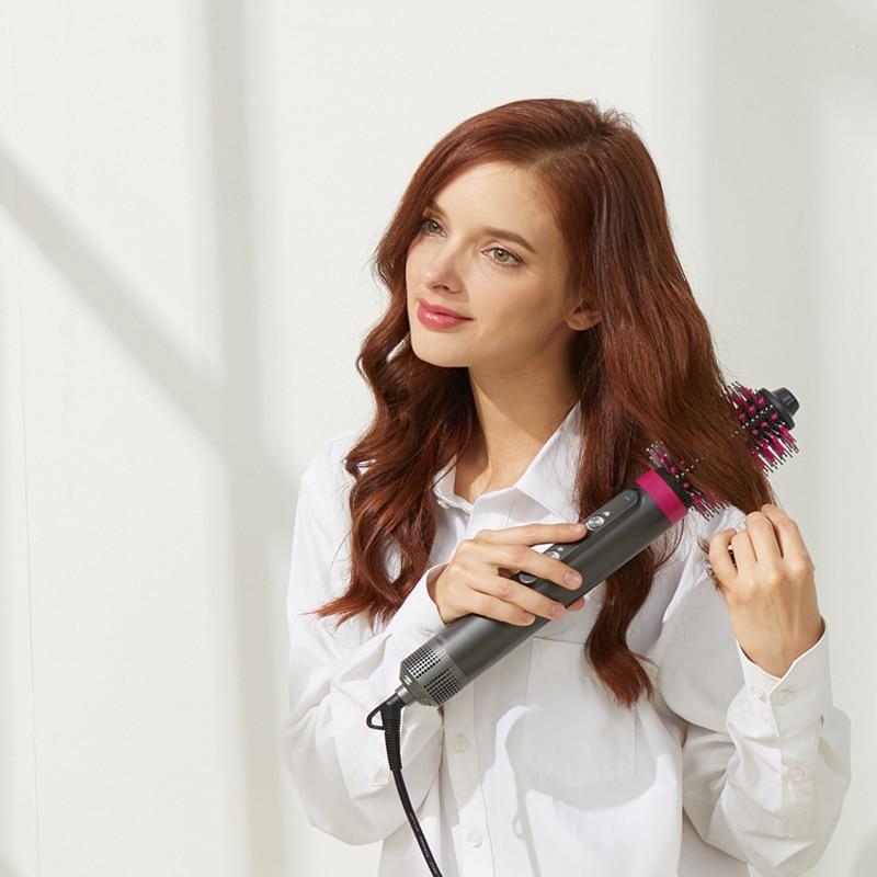 4 in 1 Hair Dryer Brush Blow Dryer Professional Salon Hair Straightener Brush One Step HairDryer Electric Hot Air Brush enlarge