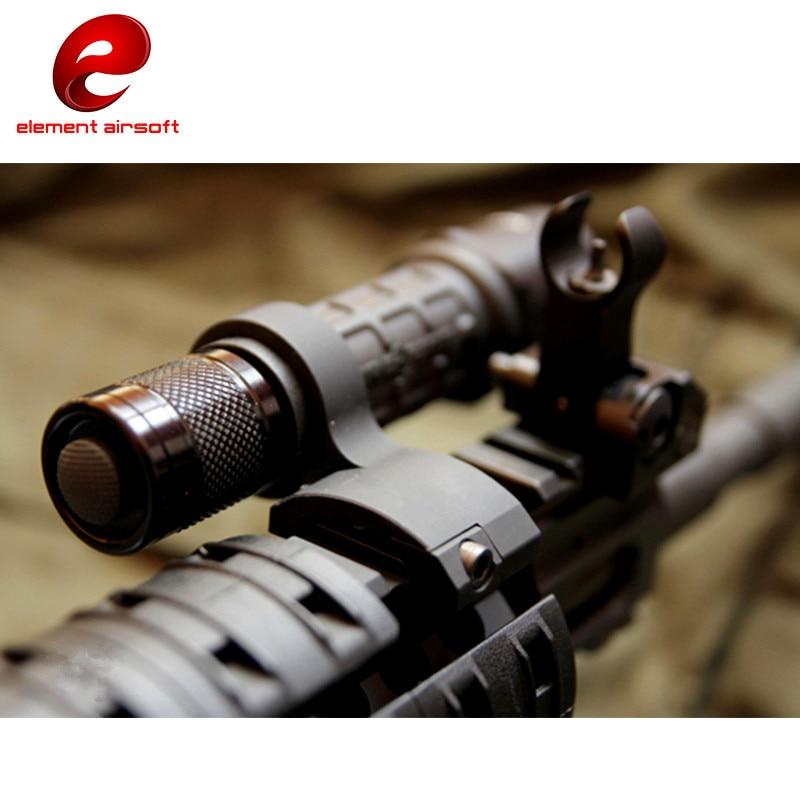 Element Airsoft 25mm, linterna táctica de montaje en el Sector de engranaje de luz, armas de caza Softair, accesorios de iluminación para armas EX270
