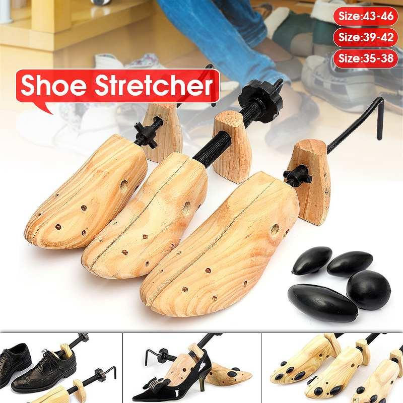 Durable Shoe Stretcher Wooden Shoes Tree Shaper Rack Wood Adjustable Flats Pumps Boots Expander Tree