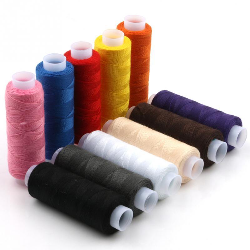 12 cores/conjunto de costura de tricô carretel de linha para a mão costura máquina linha de costura acessórios de costura em casa