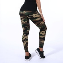 9054 Europe And America Fashion Camouflage Printed Flower Leggings Brushed Qmilch Capri Pants