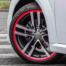 """Coche rojo motocicleta Motocross DIY 17 """"-19"""" Rueda reflectante Rim Stripe cinta adhesiva y pegatina estilo adhesivo"""