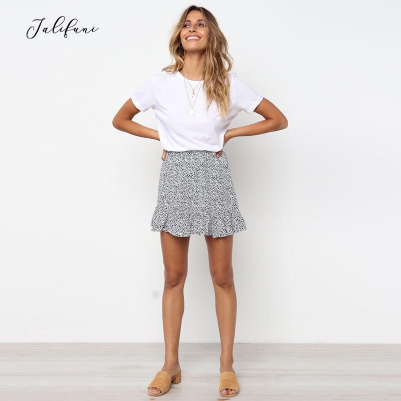 Mini Falda plisada a la moda para mujer, vestido Sexy informal con estampado de leopardo para verano, de cintura alta Faldas, ligero, plisado, 2019 nuevo