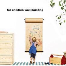 Wall Mounted Kraft Paper Roll Holder Wall Decor Children Painting Cafe Menu Poster Art