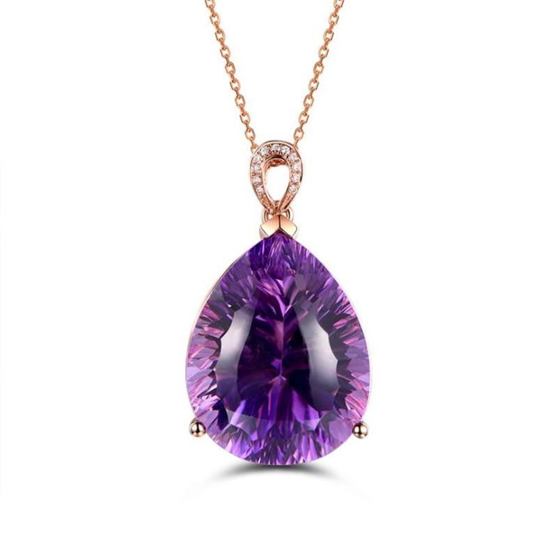 Сияющий-кристалл-фиолетовый-кулон-в-виде-капли-воды-женское-ожерелье-ювелирные-изделия-серебро-925-пробы-фотосессия-для-леди-Подарок-на-г