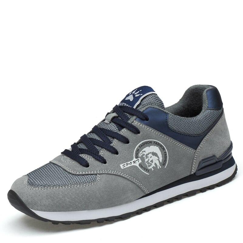 حذاء رياضي من الجلد الطبيعي للرجال ، مسامي ، خفيف الوزن ، للمشي في الهواء الطلق ، للربيع والصيف ، للاستخدام اليومي