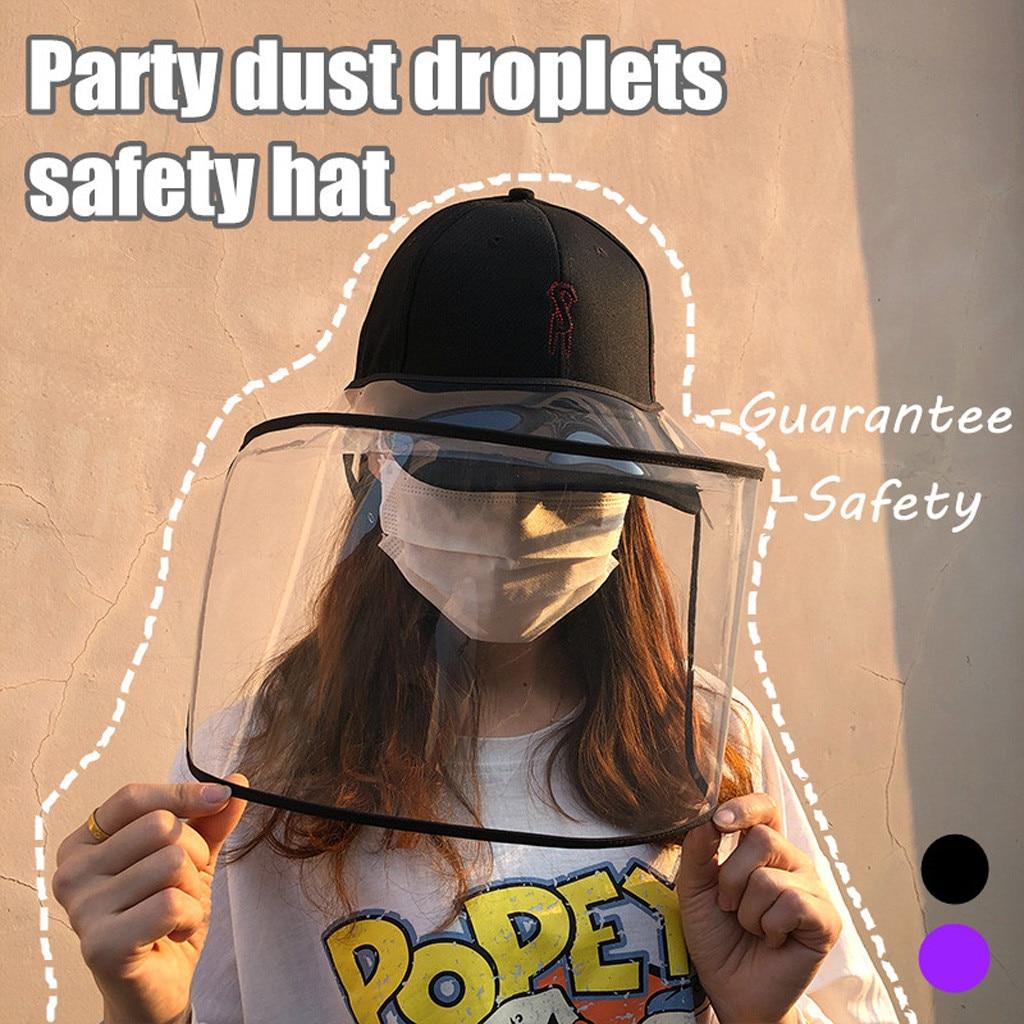 Sombrero protector Anti-spitting, cubierta a prueba de polvo, tamaño de gorro ajustable