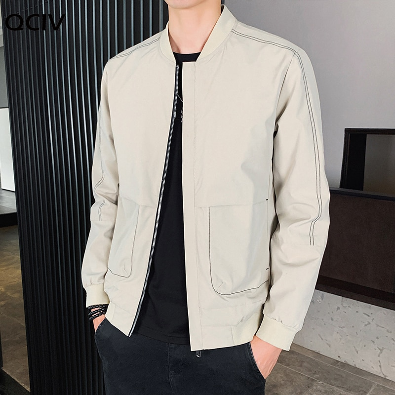 Mens Spring Jackets Mens Casual Slim Stand-up collar zipper Jacket And Coats Hip Hop Baseball Windbreaker Street Jackets 4XL  - buy with discount