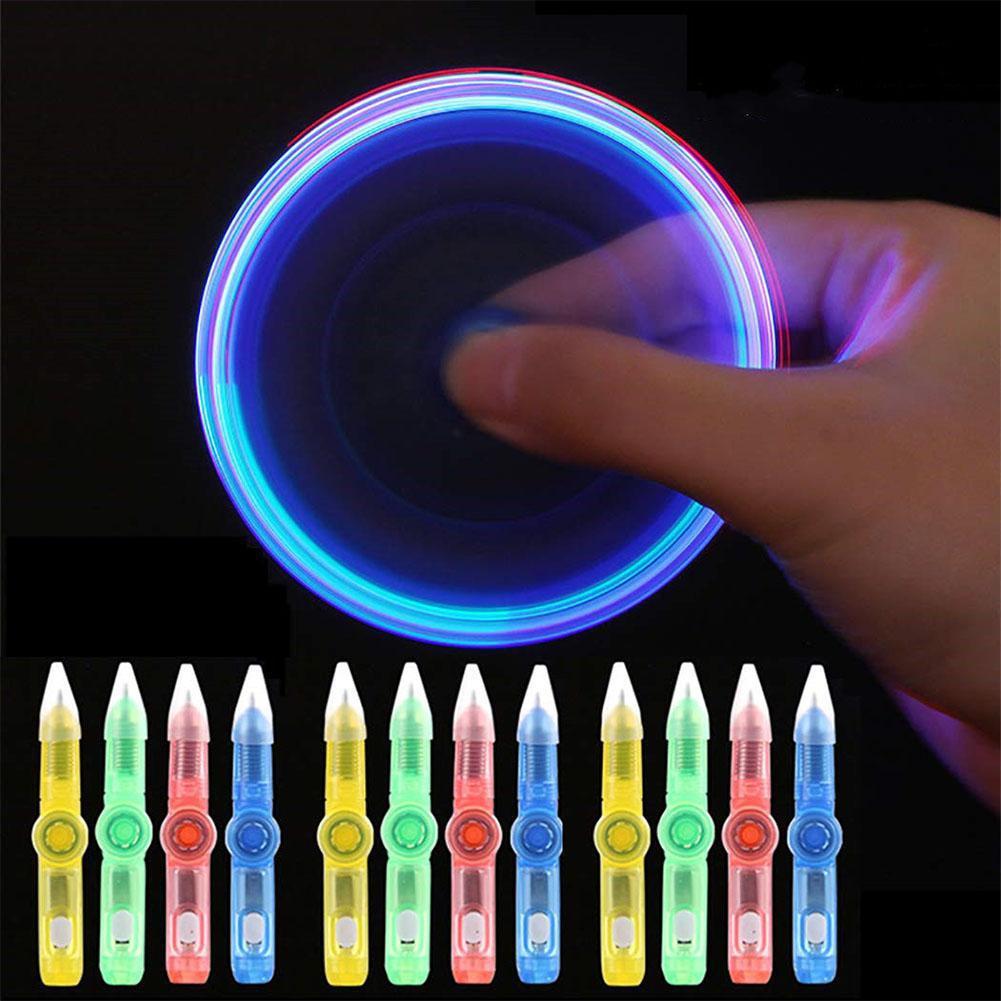 Ручка игровая вращающаяся светящаяся со светодиодной подсветкой, шариковая ручка для письма, подарок для детей и студентов, произвольный ц...