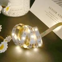 Bande lumineuse blanche chaude  1M 2M  boite a piles  ruban Flexible pour arriere-plan de la television  decoration de la chambre a coucher