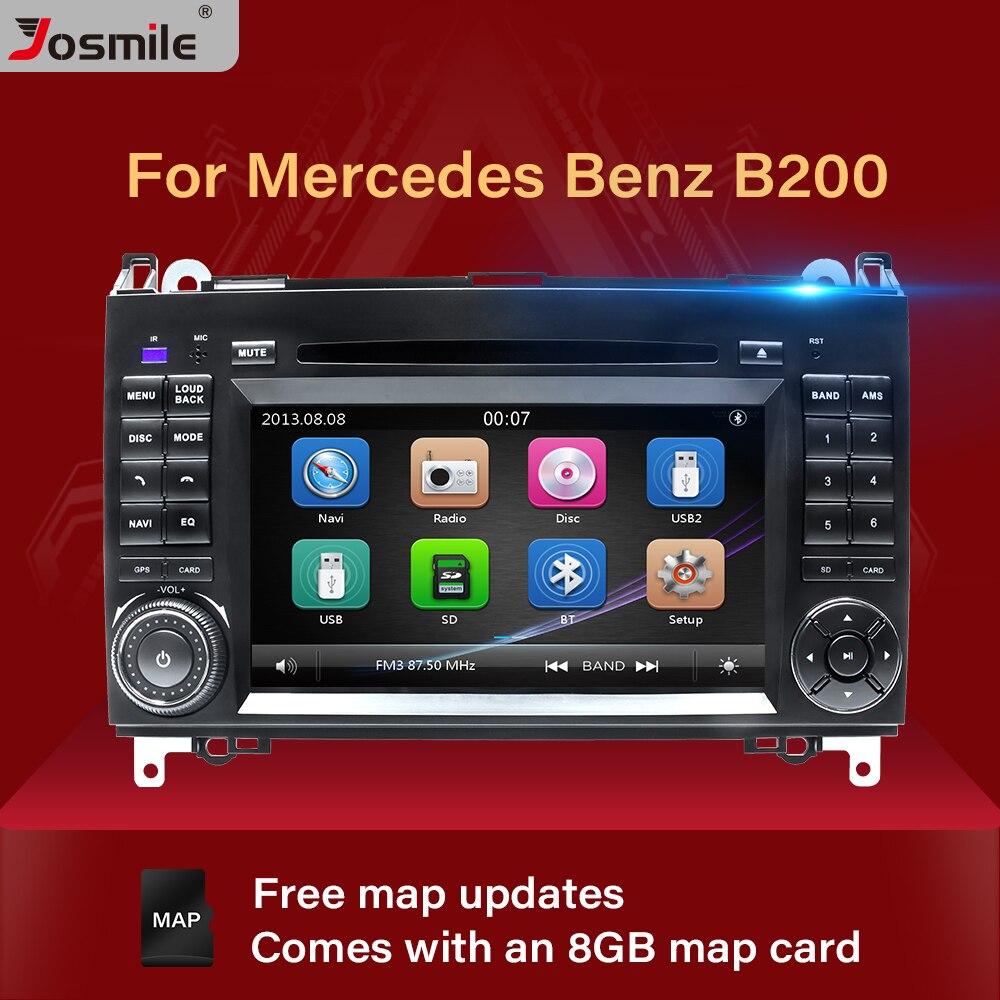 راديو السيارة متعدد الوسائط مع نظام تحديد المواقع العالمي (GPS) ، راديو مع مشغل DVD ، 2 Din ، لسيارة Mercedes Sprinter Vito W639 Viano B Class W169 W245 W209 W906 Benz B200