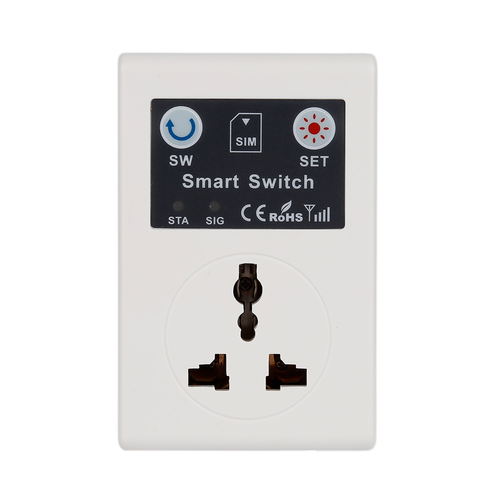 Professional UK EU 220V Phone RC Remote Wireless Control Smart Switch GSM Socket Power Plug for Home Household Appliance