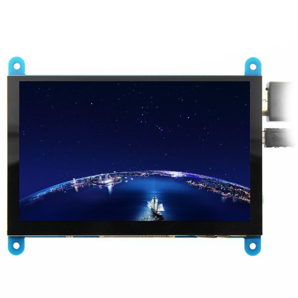 شاشة Elecrow 5 بوصة تعمل باللمس شاشة محمولة تعمل باللمس بالسعة شاشة LCD يعرض التوت بي 4 عرض HDMI 800x480