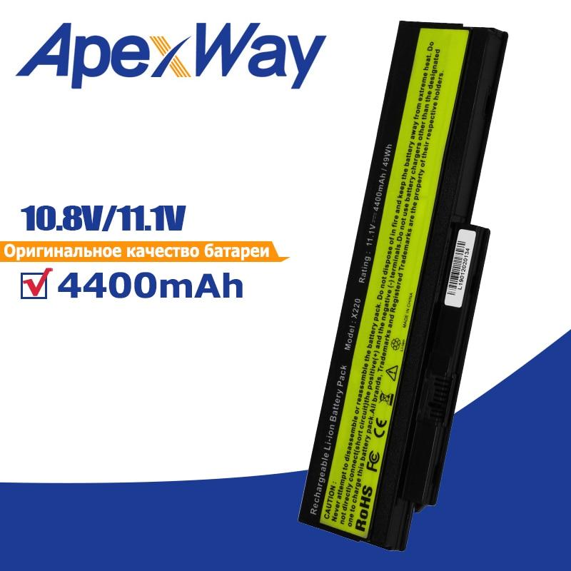 Apexway 11.1V Bateria Do Portátil para Lenovo ThinkPad X220 X220i X220s 42T4901 42T4902 42Y4940 42Y4868 42T4873 42Y4874 42Y4864 42T486