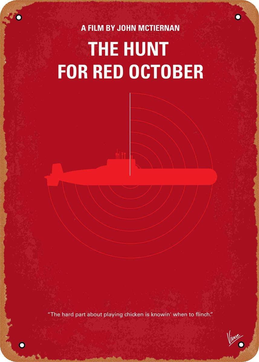 Póster minimalista de película My The Hunt para Red October No198, cartel...