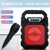 bluetooth compatible speaker outdoor portable ktv aux fm function wireless for home karaoke card pluggable large volume speake
