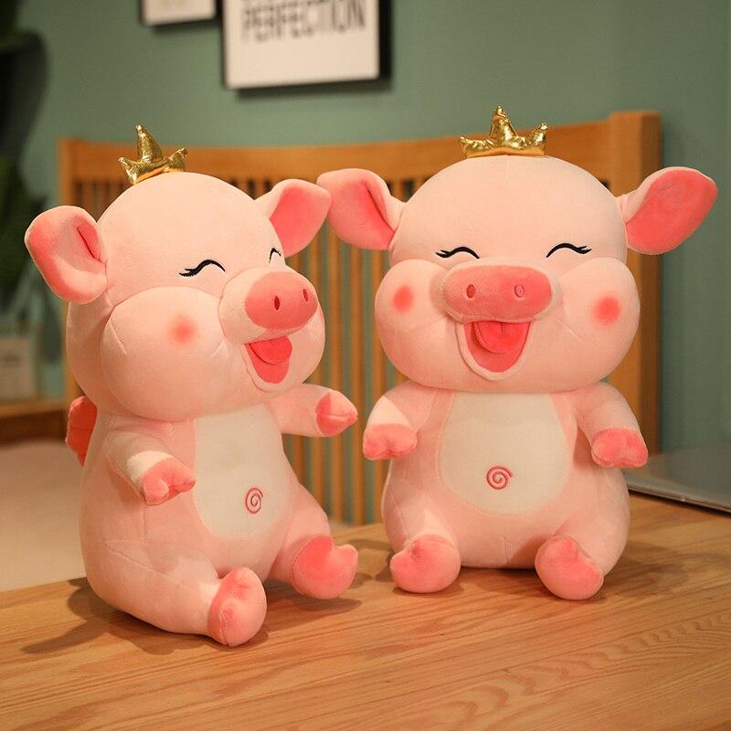 1 предмет, новинка, размер 40/60 см Новая модель копилки куклы свинья плюшевые игрушки подушки подарок на день рождения для детей рождественск...
