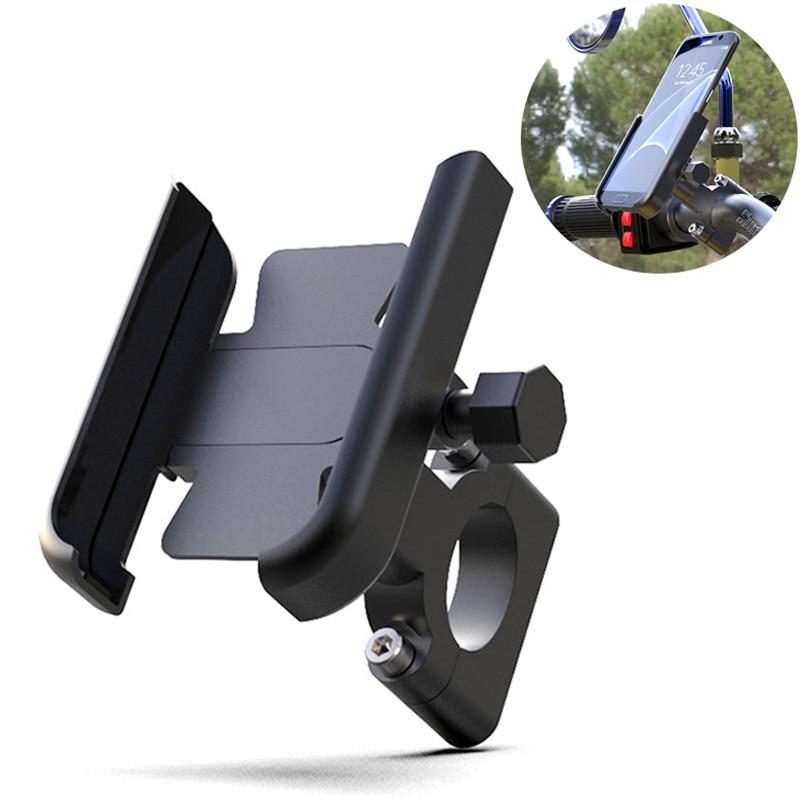 دراجة نارية من سبائك الألومنيوم حامل هاتف دراجة دراجة ل 4-7 بوصة الهاتف الذكي لتحديد المواقع 20-30 مللي متر المقود جبل دراجة نارية الملحقات