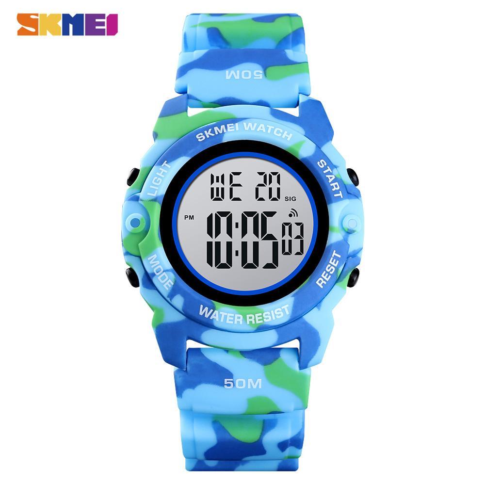 SKMEI Fashion Digital Boys Watches Time Chrono Children Watch Waterproof Camo Sports Hour Clock Boy Teenager Wristwatch New 2021