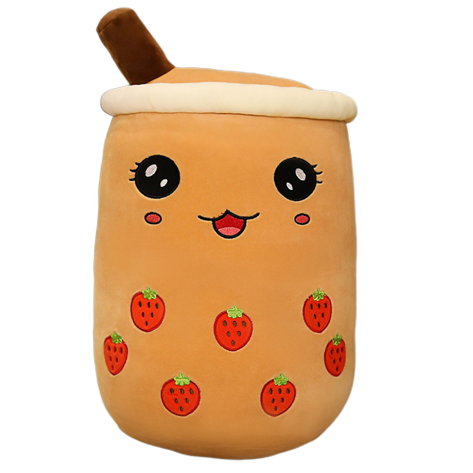 cute soft cartoon bubble tea cup plush toys filled with fashionable drinks pillow straw cute cushion milk tea cup pillow plush NEW Real Life Bubble Tea Milk Shaped Plush Toys Cartoon Tea Pillow Cushion Cute Soft Plush Toy For Kids Birthday Funny Gift