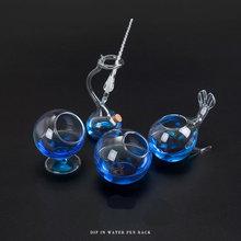 Porte-stylo créatif en forme de porte-stylo en verre décoratif organisateur de bureau