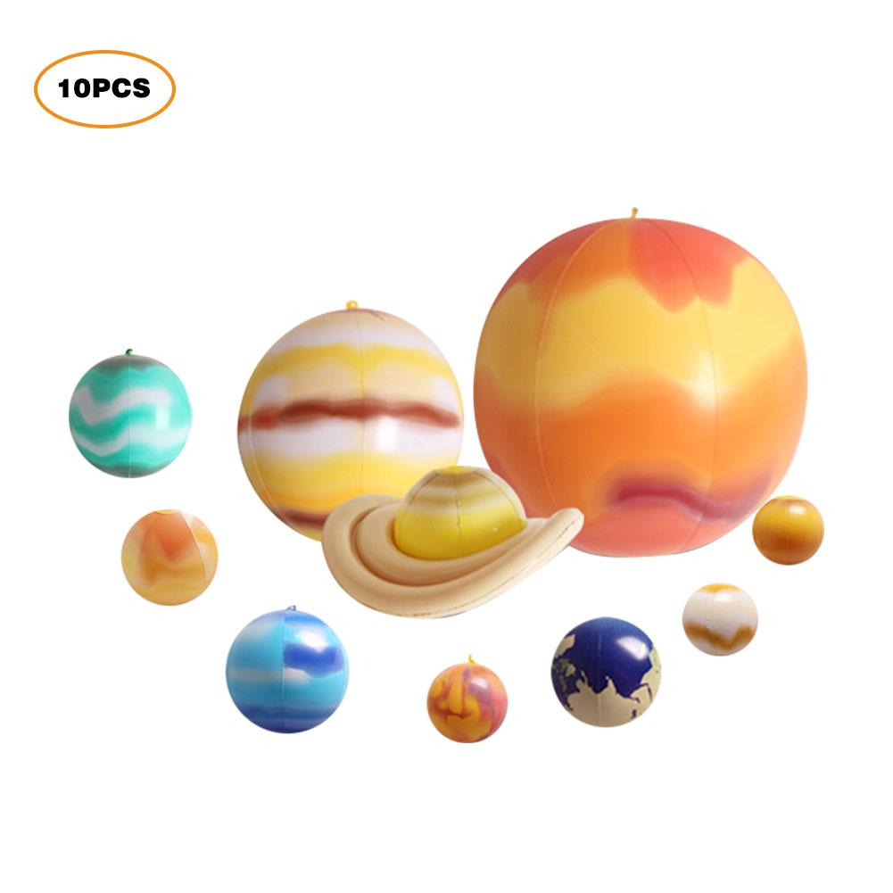 Sistema Solar inflable de nueve planetas que brilla en la oscuridad aparatos educativos del sistema Solar