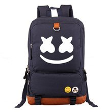 DJ Marshmello Backpack School Bag DJ Marshmello Cosplay Costume Prop For children Girls kids women Cute Marshmallow bag