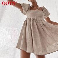 Льняное мини-платье Посмотреть
