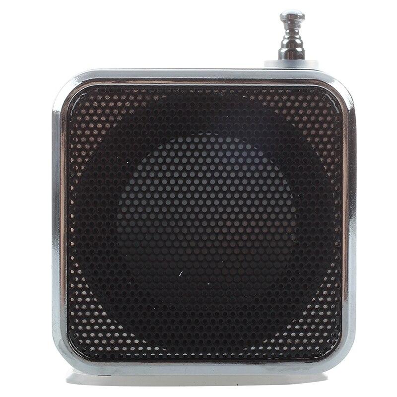 TD-V26 Mini altavoz portátil con Digital y Micro SD / TF / USB/FM-Negro