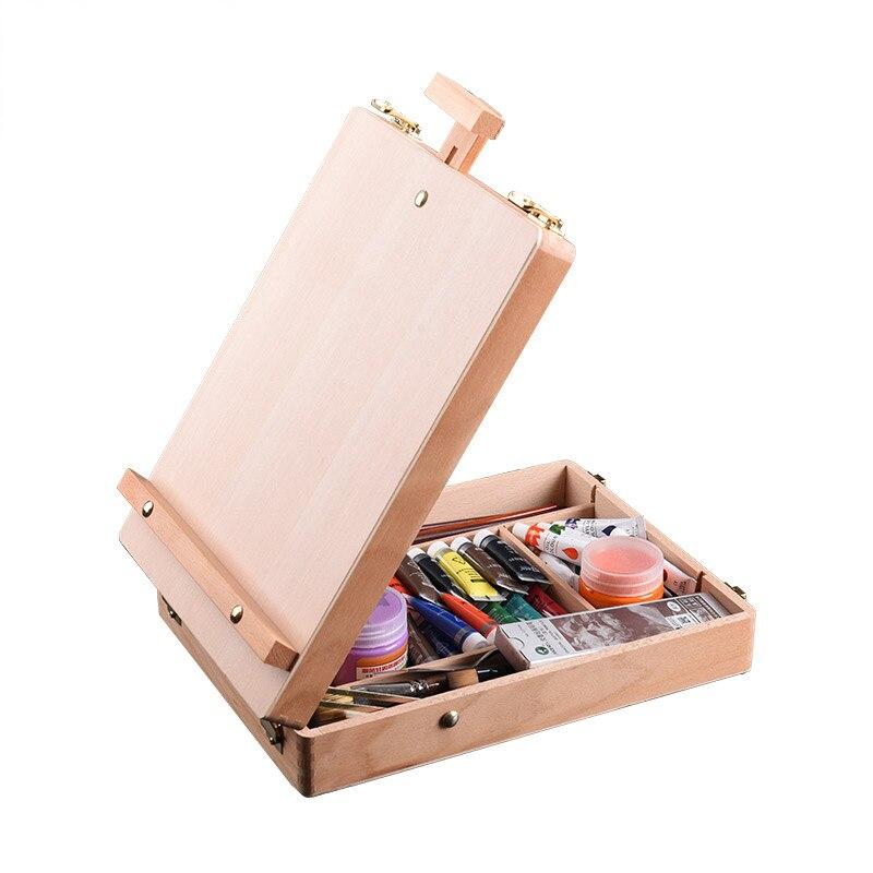 حامل خشبي للرسم والرسم ، صندوق طاولة للرسم ، لوحة زيتية ، ملحقات كمبيوتر محمول ، لوازم فنية للفنان والأطفال