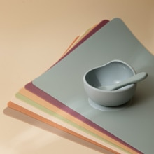 7 Colors 100% Food Grade Silicone Placemat Baby Dishes Kids Heat Resistant Mat Heat Resistant Silicone Infant Dining Table Pads