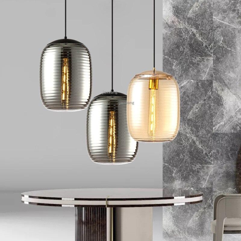 Lámparas colgantes de cristal LED de decoración moderna luminaria colgante para el salón de comedor creativa
