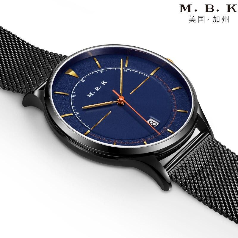 Montre homme Luxury Brand MBK Fashion Automatic Mechanical Wach Men Japan NH35 Movement Watches Sapphire Calendar Waterproof