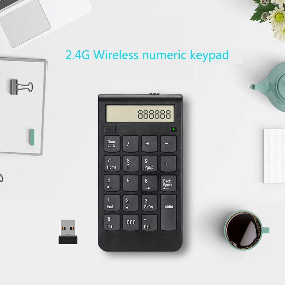 Teclado numérico sem fio de bluetooth 20-key teclado inteligente e calculadora teclado sem fio para macbook para ipad pc