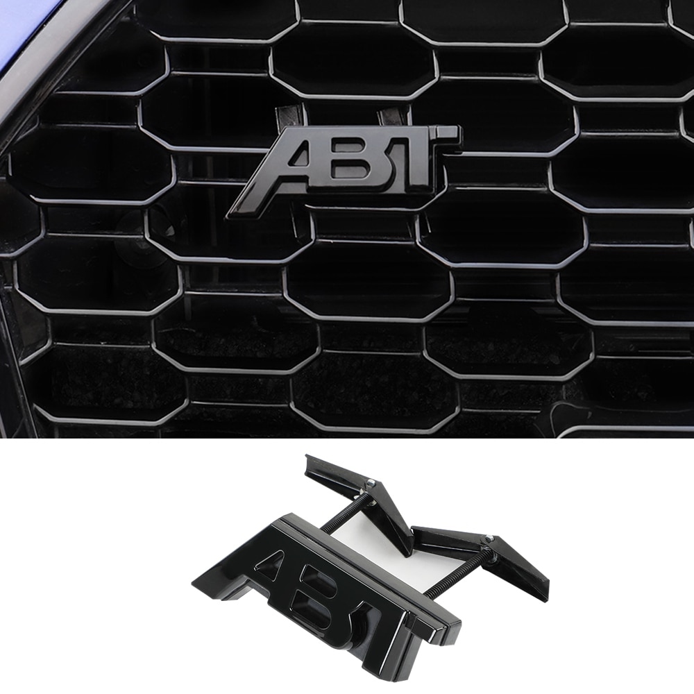 Negro brillante Calcomanía para parrilla para Audi ABT A3 8P A6 C6 C5 A4 B80 A1 A5 A7 A8 S8 S4 S5 S6 S7 S3 RS8 TT Q3 Q2 Q5 Q7 Audi pegatina ABT