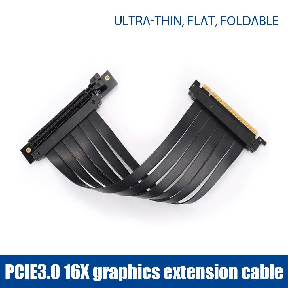 PCI-E 3.0 16X بطاقة الرسومات موسع قاعدة عمودية ATX حالة مرنة تمديد ميناء موصل كابل الناهض بطاقة