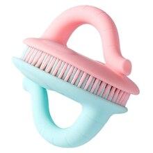 Brosse de bain en Silicone pour bébé   Brosse de bain, douche, éponge, doux et naturelle, brosse exfoliante, visage, cheveux, cuir chevelu, berceau, casquette