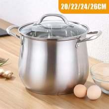 Marmite de cuisine en acier inoxydable 304   Marmite à soupe Extra haute, avec Double fond et ragoût épais, ustensiles de cuisine, marmite chauffante 2.5-9L