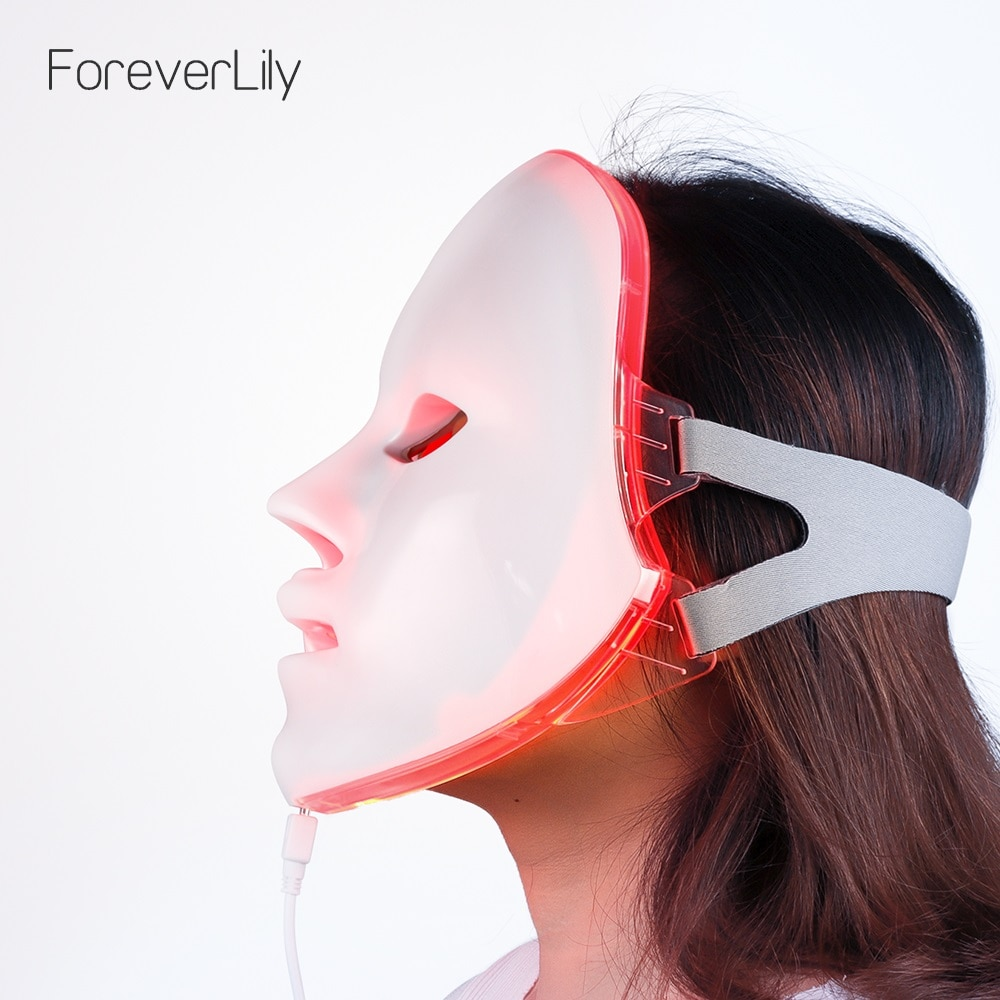 NOBOX-Minimalism Design 7 Colors LED Facial Mask Photon Therapy Anti-Acne Wrinkle Removal Skin Rejuv
