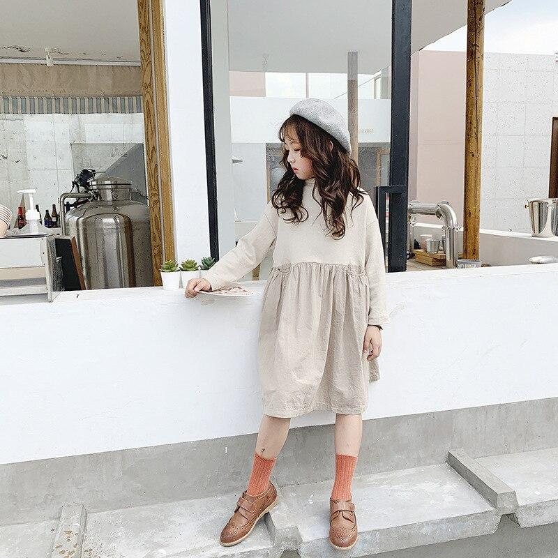 2020 vestidos de Primavera de manga larga para niñas vestidos de Patchwork de moda para niñas vestidos casuales elegantes de primavera, #8353