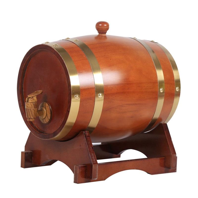 10L خمر الخشب البلوط الأخشاب برميل نبيذ موزع للويسكي البوربون Tequila النبيذ البيرة مجموعة