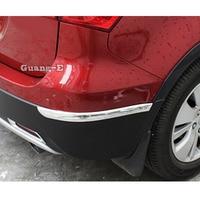 For Suzuki S-Cross SX4 2017 2018 2019 2020 Car Rear Back Bumper Corner Protection Trim Frame Edge Board ABS Chrome Frame 2pcs