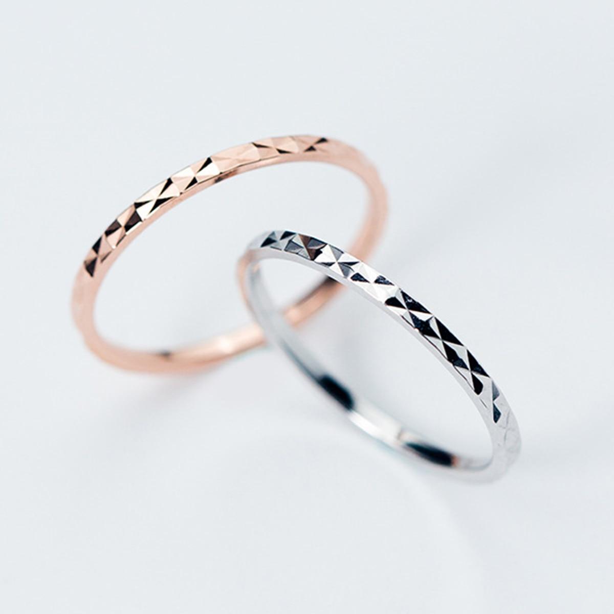 Серебряные/розовые золотые модные тонкие серебряные кольца для женщин обручальное кольцо Изящные ювелирные изделия для женщин