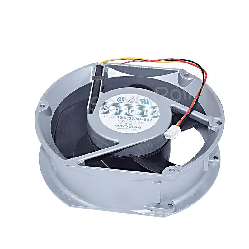 Novo para Sanyo Ventilador de Refrigeração do Radiador Processador de 3 Pinos 109e5724h507 Dc24v 0.58a 172*150*51mm