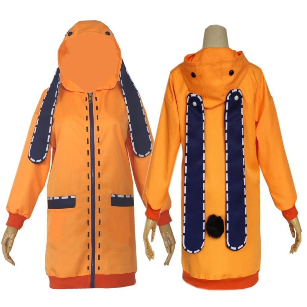 Anime Cosplay Costume Clothings Anime Yomoduki Runa Cosplay Costume For Girls Women Orange Coat Hoodies Zip Jacket Coat coslive new version bane jacket coat batman the dark knight rises cosplay costume for men adult