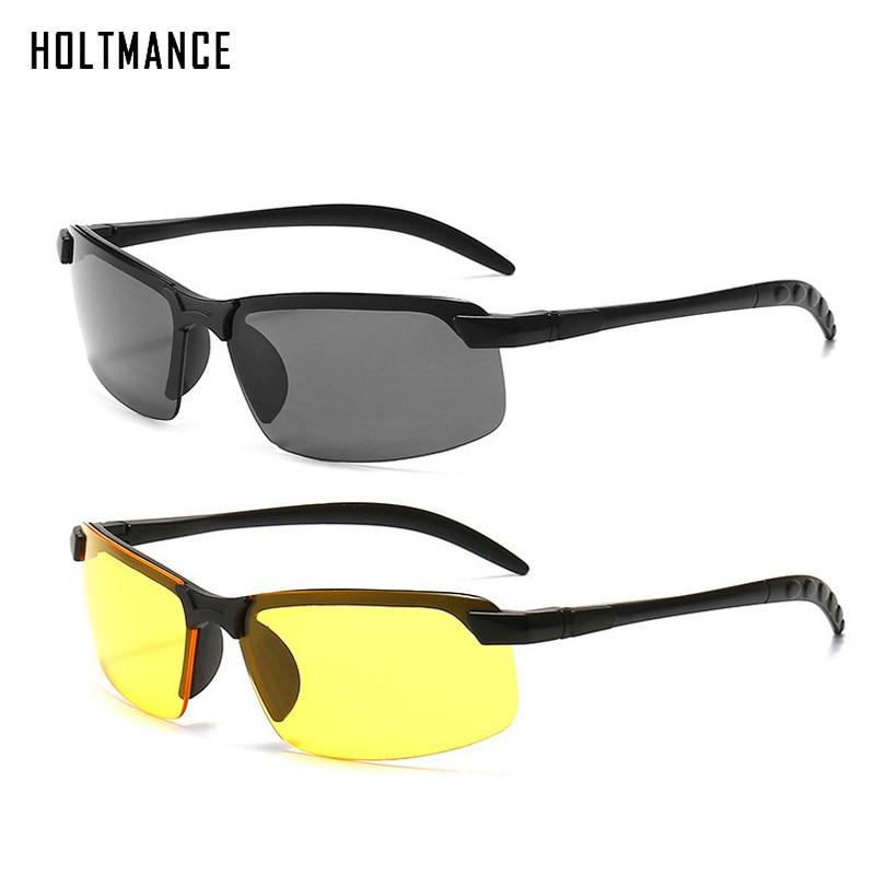 Универсальные очки ночного видения, солнцезащитные очки, мужские уличные солнцезащитные очки, очки для вождения, черные/желтые очки для ноч...