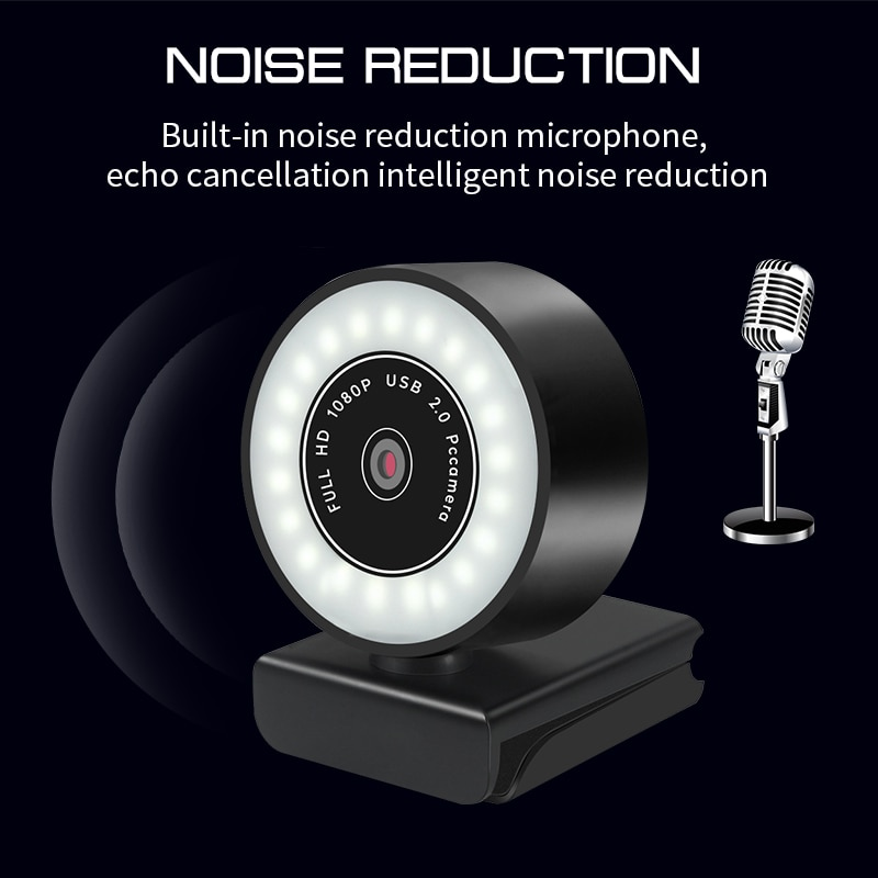 5MP/2K/1080P HD Webcam With Microphone LED Web Camera For Computer PC Video Recording Webcams Auto-Focus Adjustable Base Cam USB enlarge