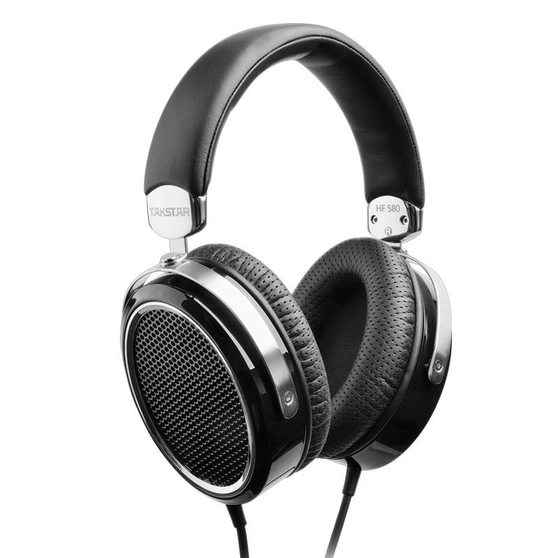 Takstar HF580 auriculares planos Hi-Fi, diafragma plano ultragrande, baja distorsión, potente HF 580