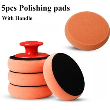 6Pcs/Set 4 Inch/100MM Buffing Polishing Pad Flat Sponge Buffing Polisher Pads Kit for Car Auto Polisher Glass Polishing